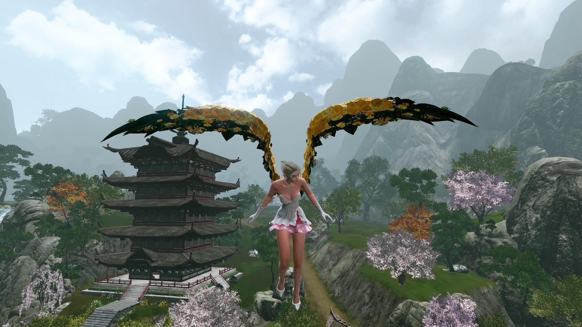 Глайдер-крылья «Желтые розы» в полете