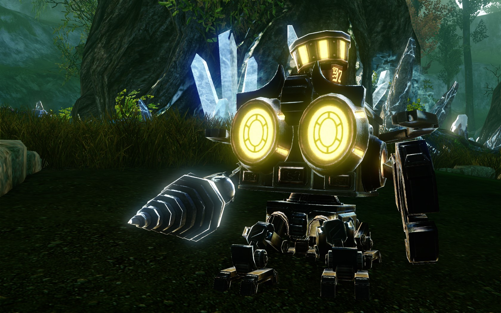 Янтарный робот-бурильщик
