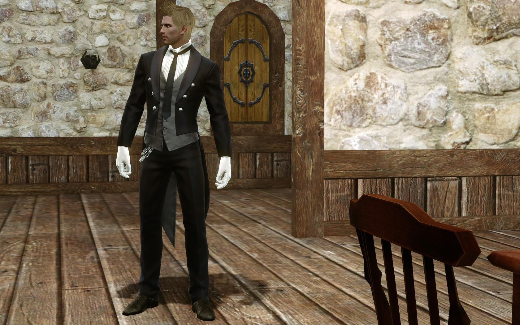 Универсальный черный костюм прислуги