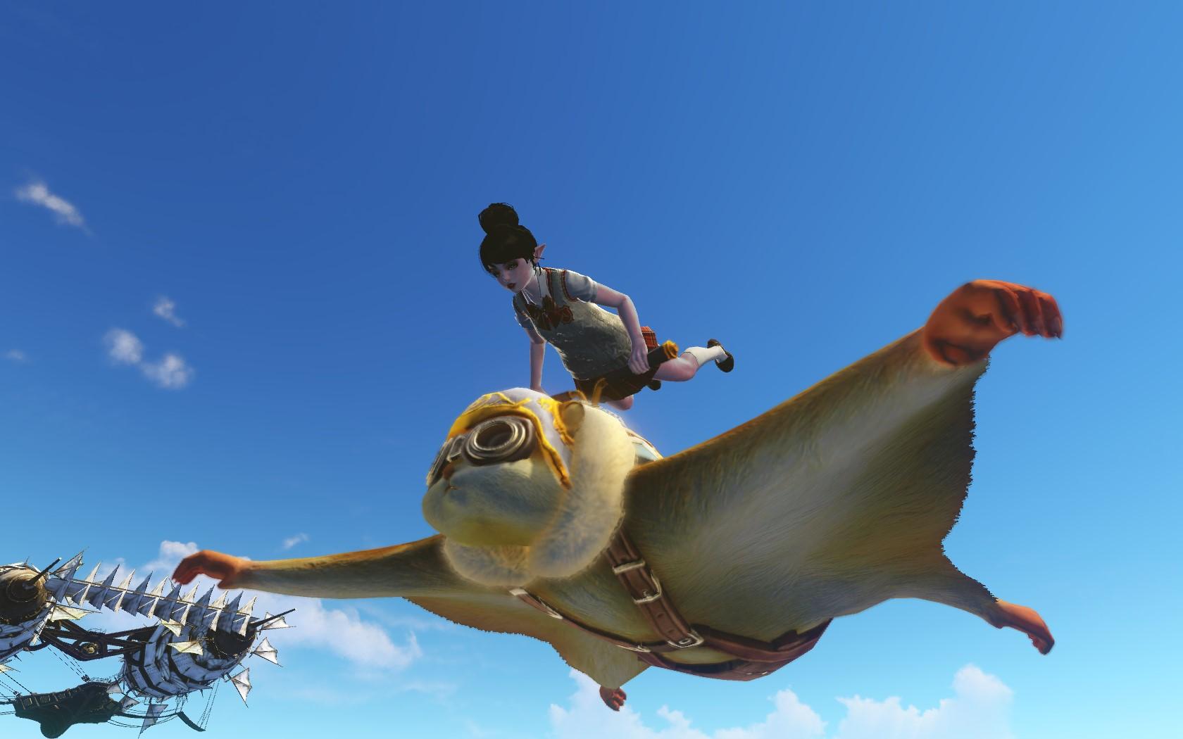 Глайдер белка-летяга и школьный костюм